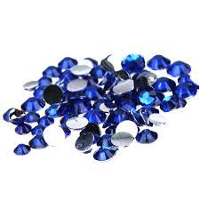 <b>1000pcs</b> 2 5mm And <b>Mixed Sizes</b> Dark Blue Resin Rhinestones Non ...
