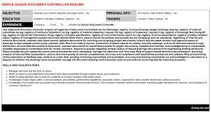 document controller  document controller resume sample sample    senior document controller  professional experience senior document controller   sample document controller