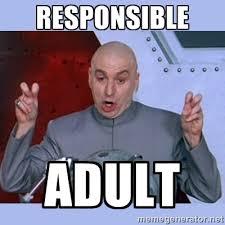 responsible adult - Dr Evil meme | Meme Generator via Relatably.com