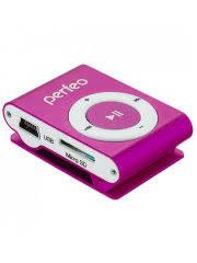 35% <b>Perfeo</b> Цифровой аудио плеер Music Clip Titanium, розовый