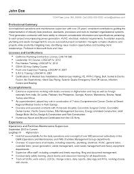 professional facilities maintenance supervisor templates to resume templates facilities maintenance supervisor
