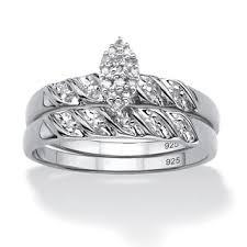 Shop <b>Platinum</b> Over <b>Sterling Silver</b> 1/10 TCW Round Diamond ...