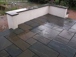 stone patio installation:  excellent flagstone price comfortable artistic inlay