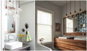 create a clean bathroom with the right suspension light 3 bathroom pendant lighting ideas