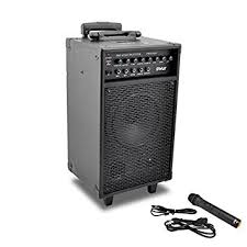 sound system wireless: pyle pwmai wireless and portable pa speaker sound system with  pin ipod iphone