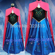 New <b>Snow Queen Princess</b> Anna Made Cosplay Costume For <b>Adult</b> ...