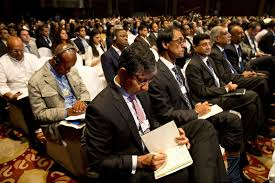 from davos to delhi why is it so hard to women at the world delegates attend the opening plenary of the economic summit in new delhi