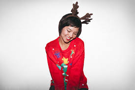 <b>Cute girl</b> with <b>reindeer</b> headband and <b>Christmas</b> sweater by paff ...