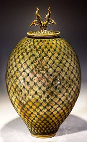 images about pottery lidded viii ceramic large 22 glaze trailed diamond jar timothy sullivan