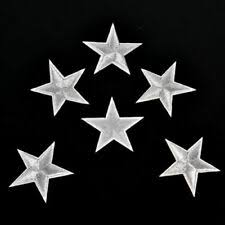 <b>10PCs</b> Silver <b>Stars</b> Embroidered Badges Iron On Patches Motif ...