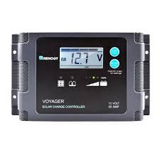 Voyager - 20A PWM <b>Waterproof</b> Charge Controller w/ <b>LCD Display</b> ...
