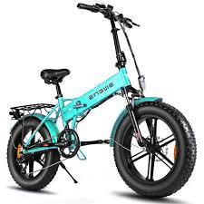<b>ENGWE EP</b>-<b>2 Pro</b> Folding Fat Tire Electric Moped Bicycle Green