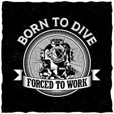 Free Vector   <b>Born to dive</b> label