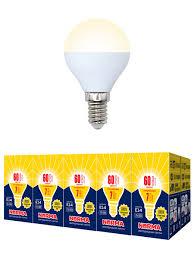 <b>Лампочка</b> Volpe <b>Комплект</b> из 10 <b>светодиодных ламп</b> LED-G45-7W ...