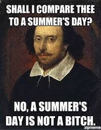 Heartbroken Shakespeare | Shall I compare thee to a summer's day ... via Relatably.com