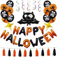 45PCS Set <b>Halloween Balloons</b> Bat Shaped <b>Balloon</b> Spiral Hanger ...