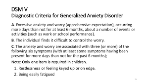 Generalized Anxiety Disorder  GAD  SlideShare         DSM V Diagnostic Criteria for Generalized Anxiety Disorder