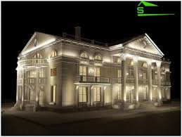 ambient lighting is characteristic for theaters and palaces building facade lighting