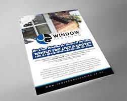 modern elegant flyer design for jg window cleaning by brian ellis flyer design by brian ellis for jg window cleaning flyer design design 10643396