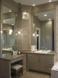 bathroom corner vanity dark cabinet color