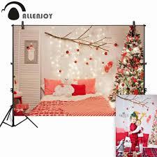 <b>Allenjoy photography backdrop christmas</b> bedroom tree decoration ...