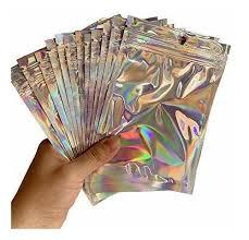 <b>50pcs</b> Bolsas Holograficas Bolsa De Aluminio Con Cierre ...