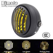 "<b>BJMOTO Universal LED</b> 6 1/2"" <b>Motorcycle</b> Retro Grill Headlight Hi ..."
