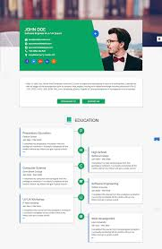 15 best html resume templates for awesome personal sites flatrica flat cv resume html site template