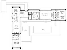 U SHAPED HOUSE PLANS WITH POOL IN THE MIDDLE   COURTYARD    L Shaped House Plans