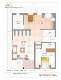 Duplex House Plan and Elevation   Sq  Ft    home applianceDuplex House Plan and Elevation   Sq  Ft