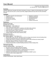 resumes samples for warehouse jobs cipanewsletter sample of warehouse worker resume sample of warehouse worker