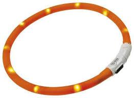 Светящийся <b>ошейник</b> для собак <b>Hunter LED</b> оранжевый 20-70 см ...