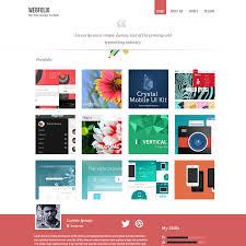 psd portfolio and resume website templates colorlib webfolio psd portfolio template