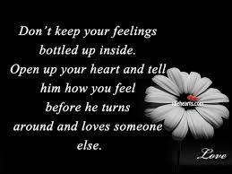 Keeping Feelings Inside Quotes. QuotesGram via Relatably.com