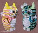 Оригами треугольников животные