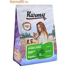 <b>Сухой корм Karmy Sterilized</b> для стерилизованных кошек и ...