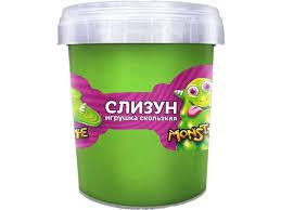 <b>Слайм KiKi</b>, <b>Monster</b>`<b>s</b> Slime Яблоко зеленый купить в детском ...