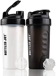 Clear Protein <b>Shaker</b> Bottle 24oz <b>BPA</b>-<b>Free Leak Proof</b> Nutrition ...