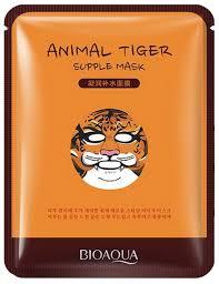 BioAqua Питательная <b>тканевая маска для лица</b> Animal Face Tiger ...