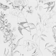 Small Picture Sibylla Garden Black And White Wallpaper Designers Guild