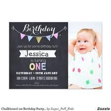 birthday invites first birthday party invitations templates first birthday party invitations girls 1st birthday invitation chevron chalkboard cards invite baby girl photo