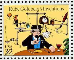 Wallace and Grombit for a Lesson on Rube Goldberg