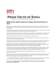 rights for persons disabilities national association of the differently abled employee alleges discrimination by dda