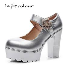 luxury lace up formal classic size 4 34 ladies shoes genuine leather medium thick casual round toe office pumps platform women