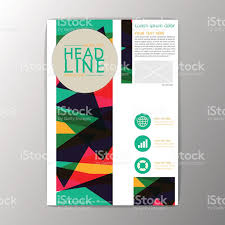 brochure template flyer layout modern abstract background brochure template flyer layout modern abstract background geometric design vector royalty stock