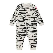 <b>Baby Romper</b> - Grey Lucky Tiger and Lightning Bolt Print - Scamp ...