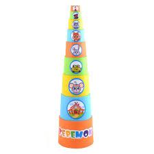 """<b>Мягкая пирамида стаканчики</b> с наклейками """"Теремок"""" <b>КНОПА</b> 1/8"""
