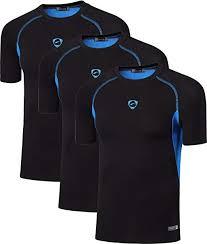 <b>jeansian Men's</b> 3 Packs <b>Sport</b> Quick Dry Short Sleeves Compression ...