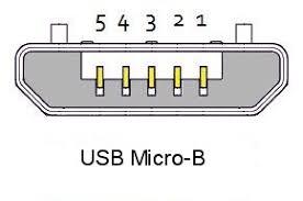 usb connector pinouts usb micro b pinout