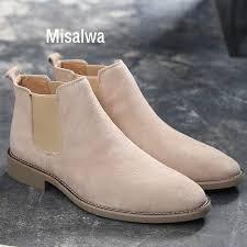 <b>Misalwa Chelsea Boots</b> Men <b>Suede Leather</b> Luxury Men <b>Ankle</b> ...